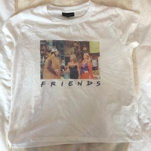 White FRIENDS mini t-shirt